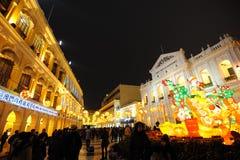 festival di sorgente dei 2012 cinesi a macau Fotografia Stock Libera da Diritti