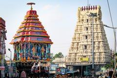 Festival di Varadharajar Ther di Kanchipuram fotografia stock