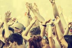 Festival di Woodstock, più grande festival di musica rock libero del biglietto di aria aperta di estate in Europa, Polonia Immagini Stock Libere da Diritti