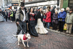 Festival dickensiano anual de la Navidad, Rochester Reino Unido Imagenes de archivo