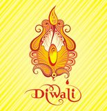 Festival of diwali celebration background. Beautiful greeting card for festival Diwali Royalty Free Stock Photos