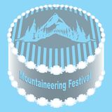 Festival do alpinismo do bolo ilustração stock