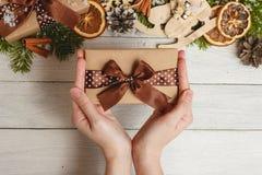 Festival do ano novo feliz de vista superior ou de dia do aniversário e do Feliz Natal conceito Imagem de Stock