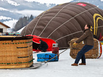Festival do balão de ar 2012 quente, Switzerland Imagens de Stock