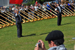 Festival do chifre alpino Imagens de Stock
