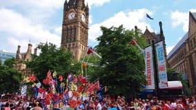 Festival do dia de Manchester em Albert Square, Manchester, Inglaterra fotografia de stock