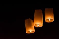 Festival do fogo de artifício de Yeepeng em Chiangmai, Tailândia Fotografia de Stock Royalty Free