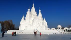 Festival do gelo em Harbin, China fotografia de stock royalty free