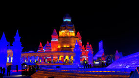 Festival do gelo em Harbin, China Imagem de Stock