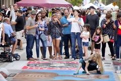 Festival do giz da rua Fotos de Stock Royalty Free