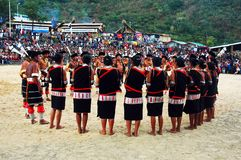 Festival do Hornbill de Nagaland-India. imagem de stock