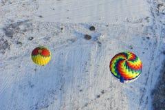 Festival do inverno de balão de ar quente fotografia de stock