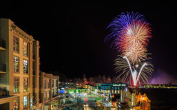 Festival do inverno de Queenstown do fogo de artifício Fotografia de Stock Royalty Free