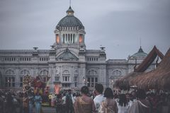 Festival do inverno na casa de campo Banguecoque Tailândia de Amphorn Satharn fotografia de stock royalty free