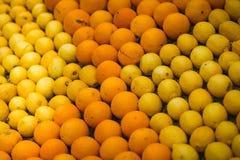 Festival 2018 do limão de Menton, arte do tema de Bollywood feita dos limões e laranjas, close-up imagens de stock