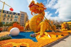 Festival do limão (Festa du Cidra) em Menton Foto de Stock Royalty Free