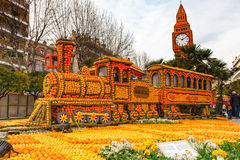 Festival do limão (Festa du Cidra) em Menton, França Imagens de Stock Royalty Free