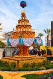 Festival do limão (Festa du Cidra), Menton, França Imagem de Stock Royalty Free
