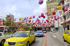 Festival do Meados de-outono do bairro chinês Imagens de Stock Royalty Free