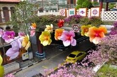 Festival do Meados de-outono do bairro chinês Fotografia de Stock Royalty Free
