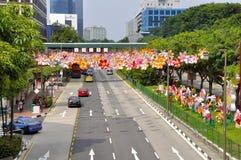 Festival do Meados de-outono do bairro chinês Imagens de Stock