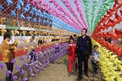 Festival do moinho de vento Imagens de Stock Royalty Free