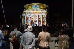Festival do projetor, Bucareste, Romênia - 12 de abril de 2018 Imagem de Stock