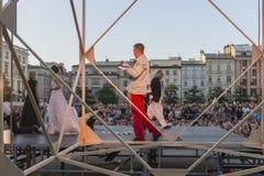 Festival do teatro da rua em Krakow 2018 Imagens de Stock Royalty Free