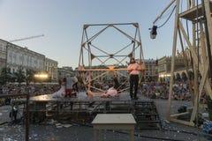 Festival do teatro da rua em Krakow 2018 Imagens de Stock