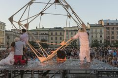 Festival do teatro da rua em Krakow 2018 Imagem de Stock