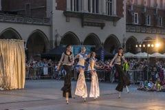 Festival do teatro da rua em Krakow 2018 Fotografia de Stock Royalty Free