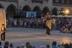 Festival do teatro da rua em Krakow 2018 Foto de Stock