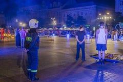 Festival do teatro da rua em Krakow Foto de Stock