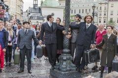 Festival do teatro da rua em Krakow Imagem de Stock Royalty Free