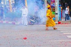 Festival do vegetariano em Tailândia Fotos de Stock
