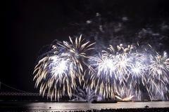 Festival 2016 dos fogos-de-artifício de Busan - pirotecnia da noite Imagens de Stock