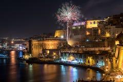 Festival dos fogos-de-artifício de Malta Imagem de Stock