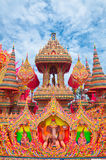 Festival drag ship at songkhla. Thai art  miticulousness by hand made Royalty Free Stock Image
