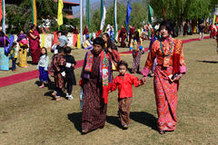 Festival du Bhutan Images libres de droits