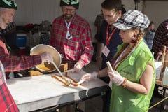 Festival du Bois cabane en sucre, sockerhydda royaltyfri fotografi