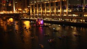 Festival du feu de Chicago Photos stock