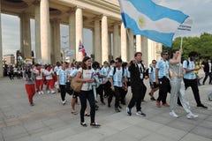 festival du l'Art-football à Moscou Équipe de l'Argentine Photographie stock libre de droits