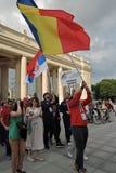 festival du l'Art-football à Moscou Équipe de la Serbie Photographie stock libre de droits