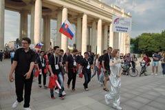 festival du l'Art-football à Moscou Équipe de la Slovaquie Image stock