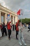 festival du l'Art-football à Moscou Équipes de la Roumanie et de la Serbie Images libres de droits