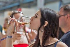 Festival du vin de Kyiv par le bon vin en Ukraine Photo libre de droits