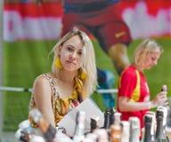 Festival du vin de Kyiv par le bon vin en Ukraine Photos libres de droits