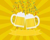 Festival e celebrazione della birra illustrazione di stock