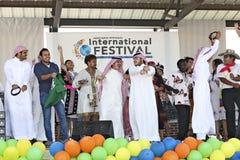 Festival e desfile de moda internacionais fotografia de stock