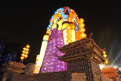 Festival e templo de lanterna chinês do ano 2013 novo justos Imagem de Stock